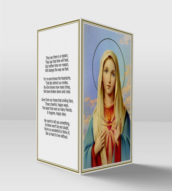Sacred heart of Mary card