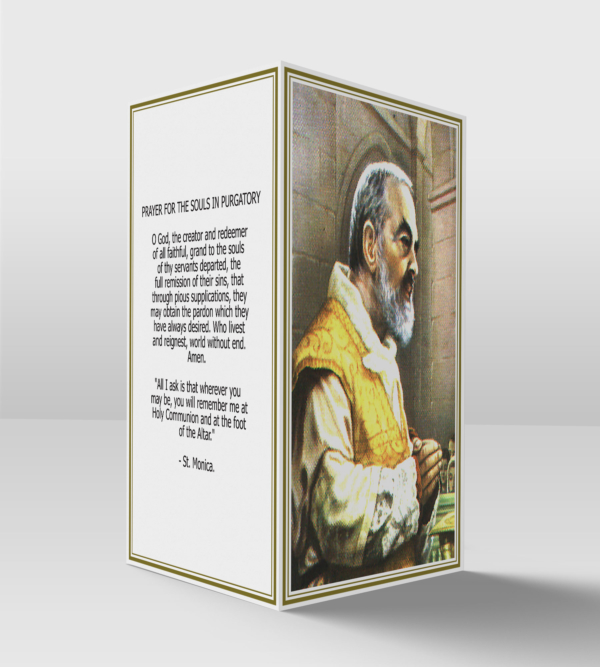 Saint Pio card