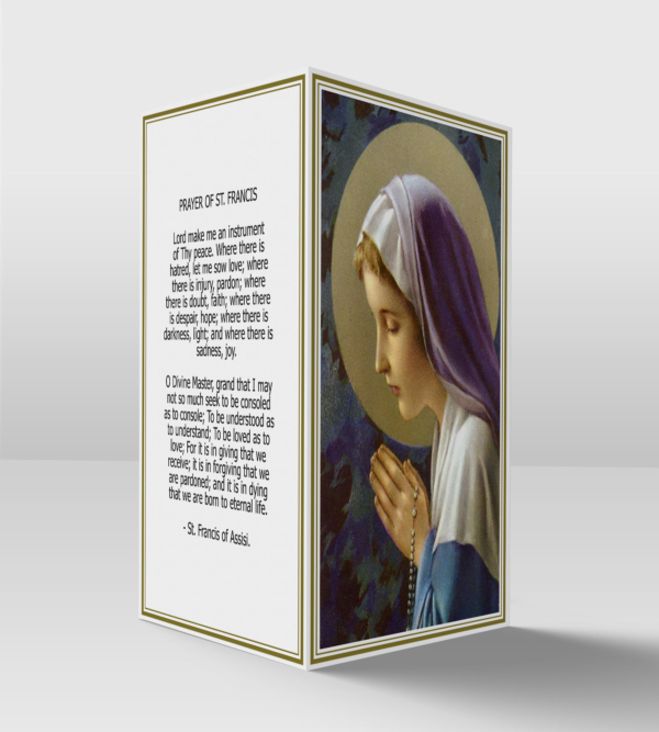Our lady of the rosary card