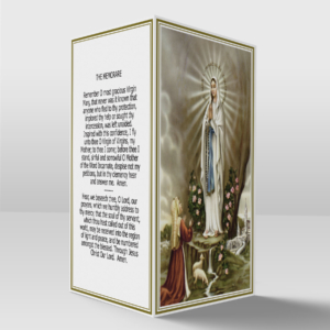 Our lady of lourdes and Saint Bernadette card