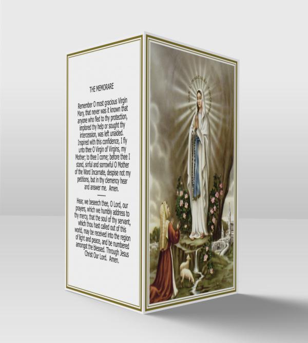 Our lady of lourdes and Saint Bernadette card