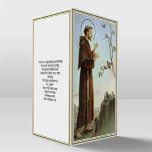 Saint Francis card