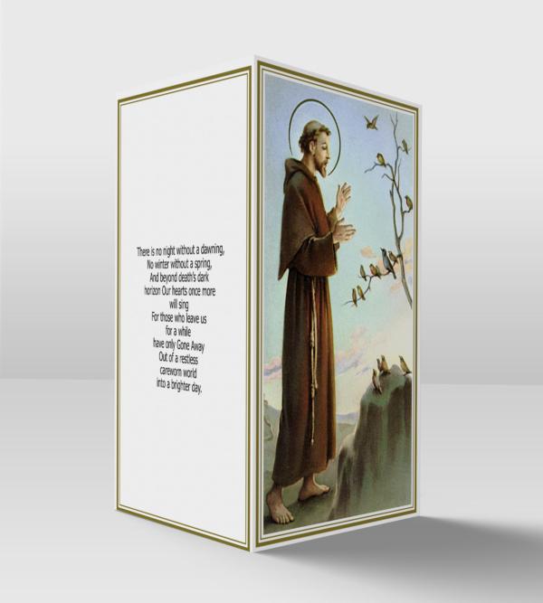 Saint Francis card