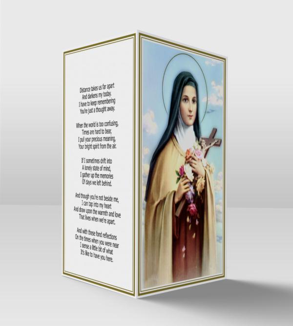 Saint Therese card