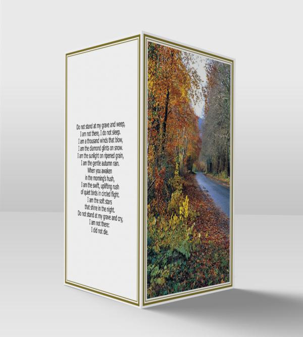 Autumn lane card