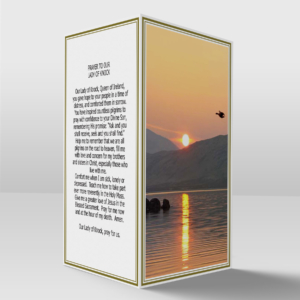 Sunset over the lake card