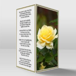 Yellow Rose Memorial Card copy